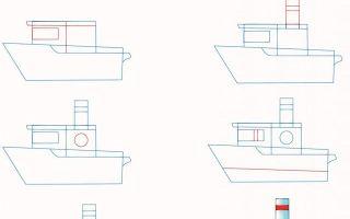 Мастер-класс о том, как нарисовать корабль
