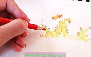 Порядок того, как нарисовать огонь