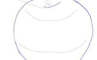 Способы того, как нарисовать яблоко
