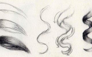 Пошаговый урок о том, как нарисовать волосы