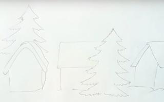 Инструкция о том, как нарисовать зимний пейзаж