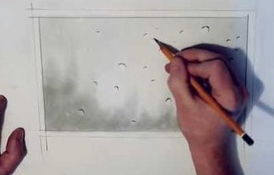 Как нарисовать каплю капли воды росу блик