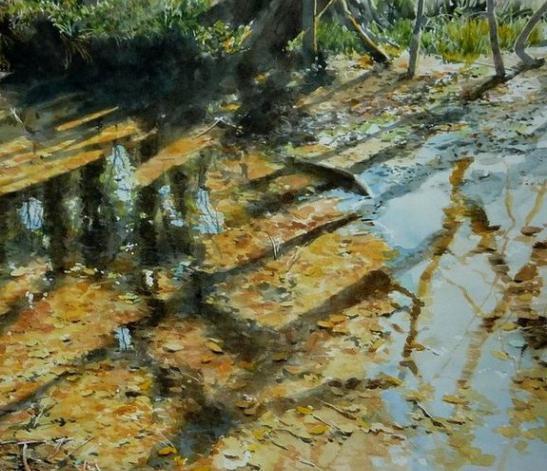 Техника рисования акварелью: методики художники картины