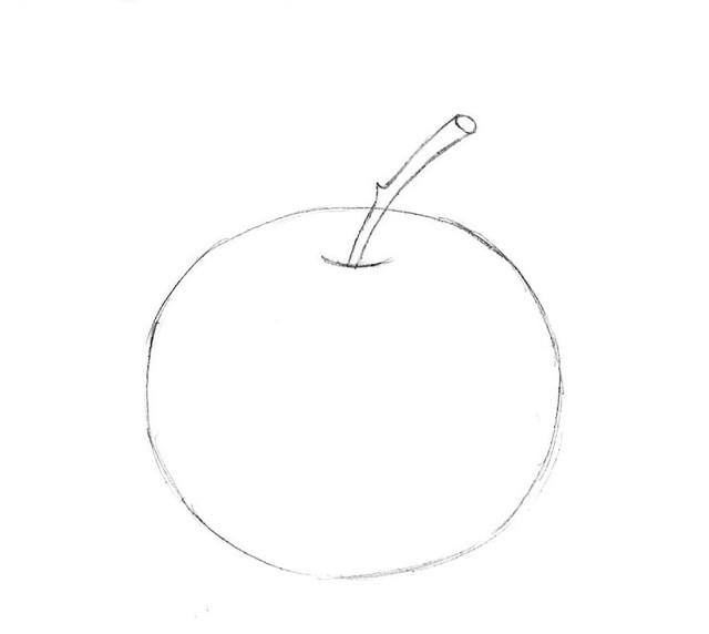 Как нарисовать яблоко: яблоки фрукты карандашом
