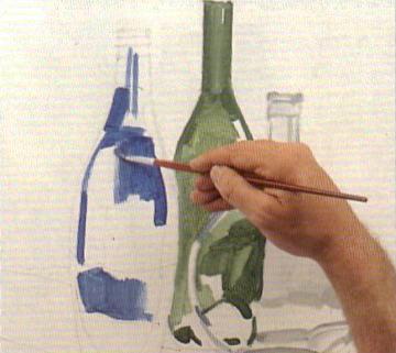 Как рисовать стекло стеклянную вазу блик рефлекс