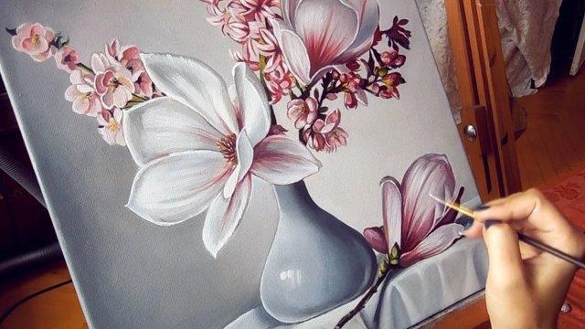 Техника акриловой живописи пишем акриловыми красками