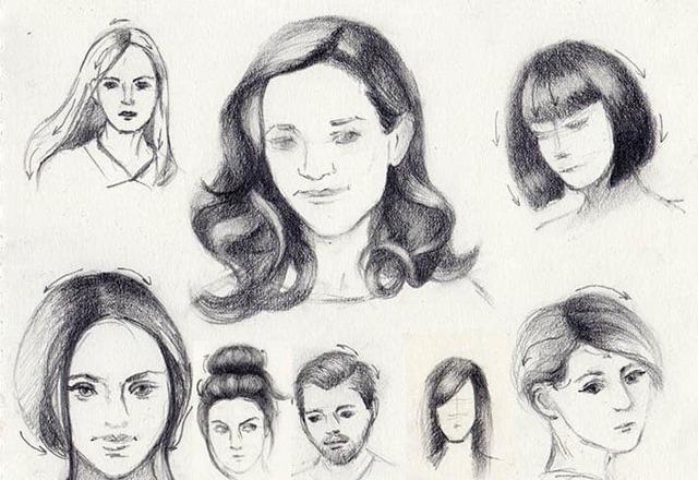 Как рисовать волосы карандашом нарисовать косу девушки