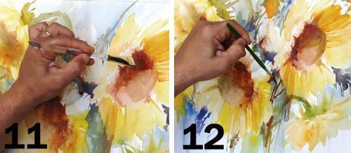 Акварель по сырому: техника пейзаж цветы