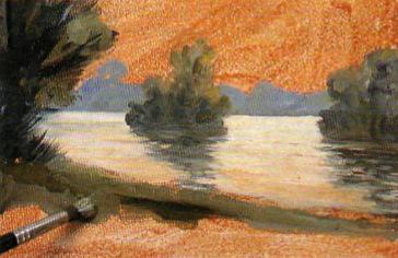 Как написать вечерний пейзаж масляными красками