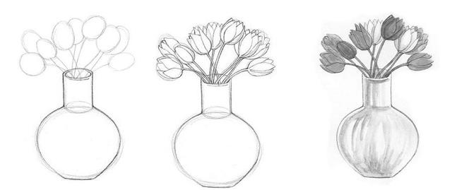 Как нарисовать вазу: карандашом, фломастером или красками, поэтапная инструкция для начинающих