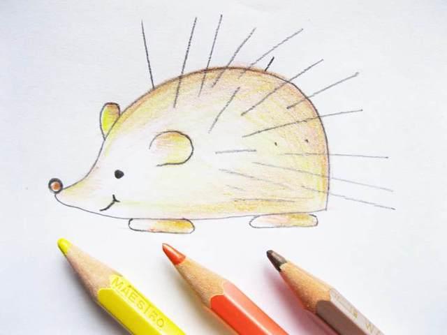 Как нарисовать ежика: карандашом, фломастером или красками, поэтапная инструкция для начинающих