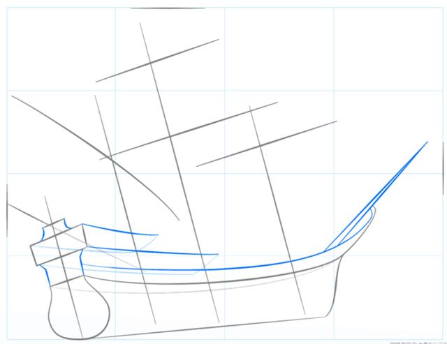Как нарисовать корабль карандашом