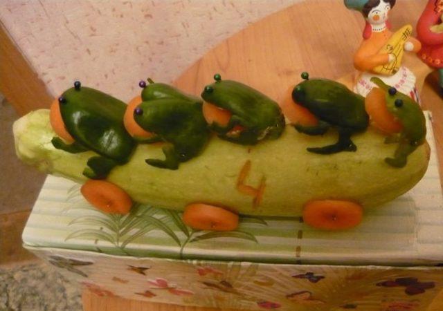 Поделки из овощей своими руками: идеи изделий из осенних овощей