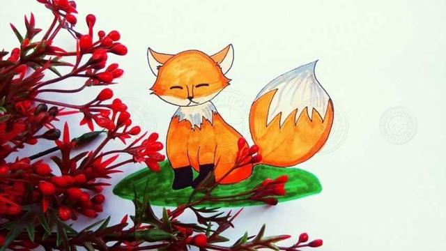 Как нарисовать лису: карандашом, фломастером или красками, поэтапная инструкция для начинающих